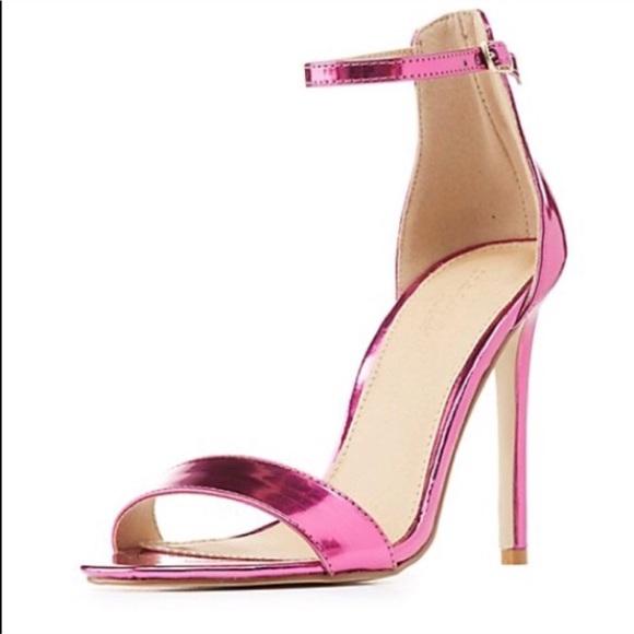 Charlotte Russe Pink Metallic Heel